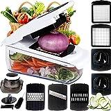 YFGQBCP Cortador de Patatas Vegetable Slicer, 7 en 1 Vegetal Spiralizer Mandoline Cutter y Shredder, Espiral y Cinta máquina de Cortar, for el Corte de Frutas/hortalizas