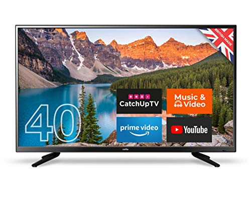Cello C40SFS 40-Inch Android 7.0 Smart Full HD LED TV - Made in the UK Black