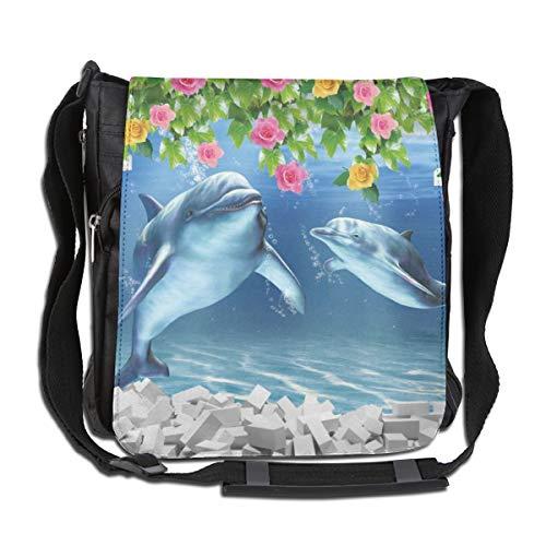 Doinh 3d Fish Aquarium Design op maat Canvas Messenger Tas, Inclined Schoudertas, Geschikt voor zowel mannen als vrouwen