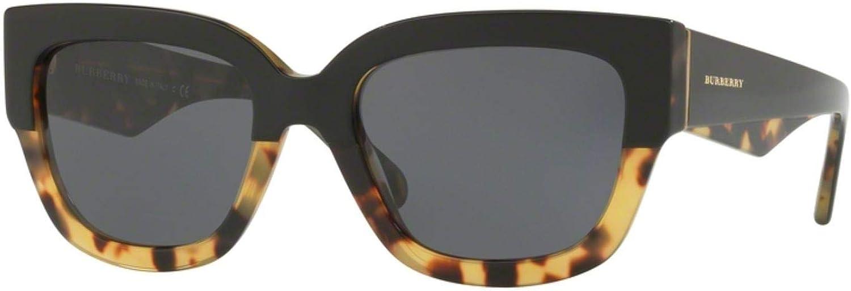 Burberry Women's BE4252F Sunglasses Top Black On Havana Grey 55mm