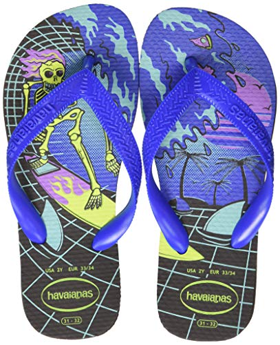 Havaianas Radical, Chanclas Unisex Niños, Multicolor (Black/Blue Star 3768), 33/34 EU