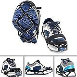 Shengyuze - Cubiertas antideslizantes para zapatos de deportes al aire libre, 1 par, crampones antideslizantes, tacos de tracción para caminar con agarre de hielo