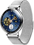 TETHYSUN Reloj inteligente a la moda, con monitor de ritmo cardíaco, monitor de sueño, IP68 impermea...