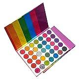 Povanjer Paleta de Sombras de Ojos arcoíris de 35 Colores, Sombra de Ojos con Brillo Mate, Nuevo Juego de Cajas de Sombras de Ojos de Maquillaje fácil de Colorear
