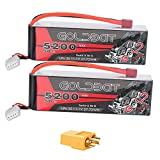 GOLDBAT RC Akku 3S 5200 50C 11.1V Lipo Batterie Pack mit Deans Plug and XT60 Connector für...