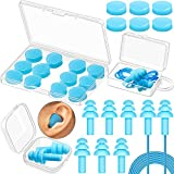 12 Pairs Ear Plugs Reusable Silicone Earplugs Waterproof Noise Reduction Earplugs Moldable Sound Blocking Ear Plugs for Sleeping, Swimming, Snoring, Concerts and Studying