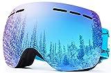 OTG REVO Masque Ski Protection 100% UV400 Anti-buée Lunettes de Snowboard pour Femme Hommes & Adolescent Ski Miroir Professionnel - by EnergeticSkyTM
