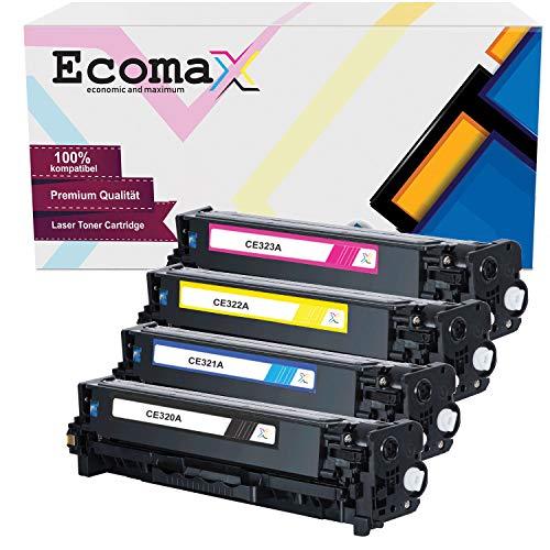 4 Ecomax Toner kompatibel zu HP CE320A CE321A CE322A CE323A 128A für HP Laserjet Pro CP1525N NW CP1528NW CM1400 Series CP1415FN FNW MFP