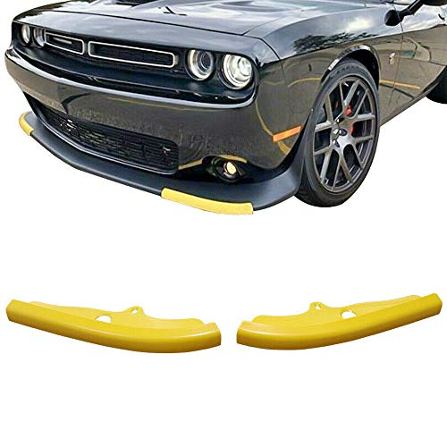 sportuli Front Bumper Lip Splitter Protector Replacement for 2015-2020 Dodge Challenger Scat Pack