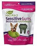 Ark Naturals Brushless Toothpaste for Sensitive Gums, Dog Dental Chews for Medium Breeds, Vet Recommended for Plaque, Bacteria & Tartar Control, 1 Pack