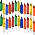 Multi Color Replacement Bulbs, Wire Christmas Light Set Mini Christmas Lights Decorations, 2.5 Volt (100 Pieces)