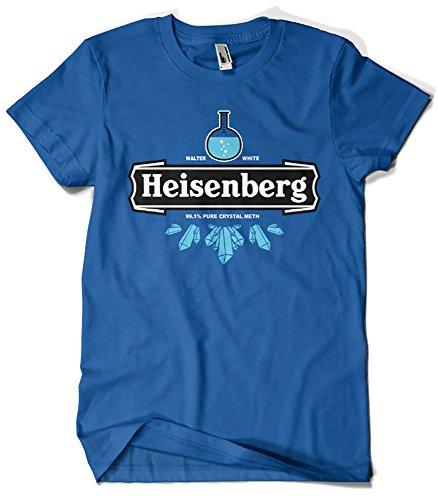 Magliette La Colmena 121-Heisenberg Crystal Meth (Olipop) blu royal M