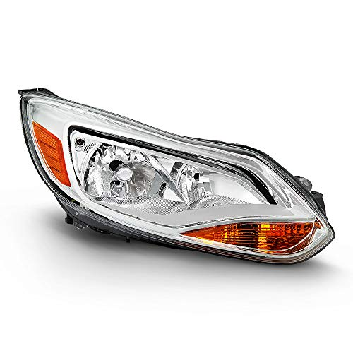 Passenger Side Right OE-Style Chrome Bezel Headlight Housing Headlamp Assembly...