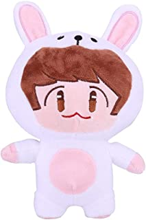 NUOFENG Kpop Cute Cartoon EXO Plush Doll Toy Chanyeol Sehun D.O. Kai Suho Xiumin Baekhyun Chen Throw Pillow Cushion (H05)