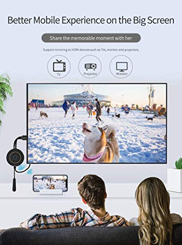 Wireless WiFi Display Dongle HDMI, 5 GHz + 2.4 GHz WiFi Wireless Mini Screen Share Display Receiver 4K,Wireless Display Adapter for Miracast/DLNA/Airplay for Android/iOS/Windows/MacOS