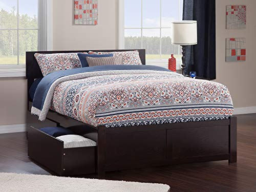 Atlantic Furniture Orlando Platform 2 Urban Bed Drawers, Full, Espresso