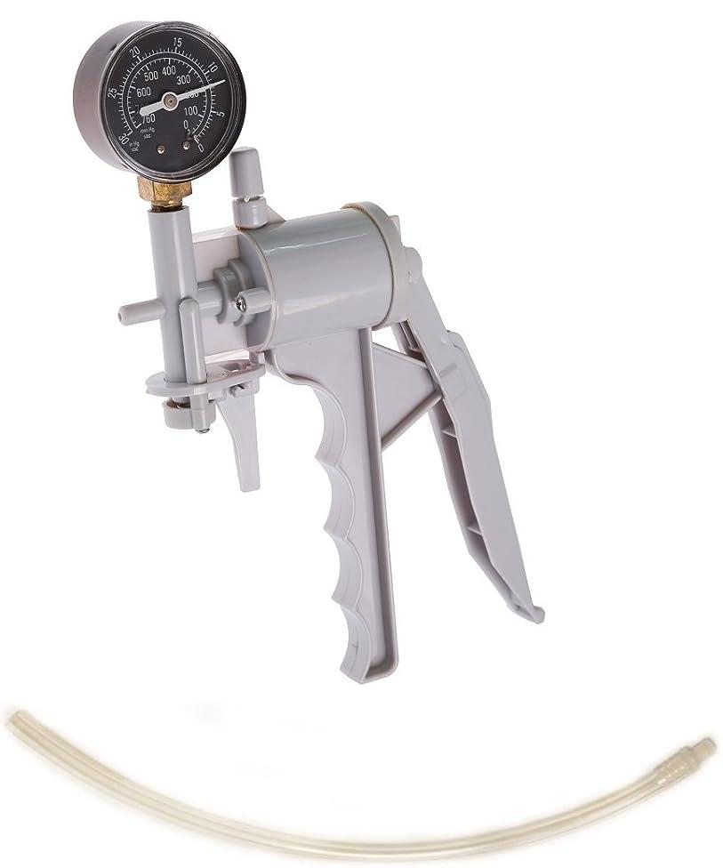 The Phenom Hand Operated Ergonomic Design Vacuum Pump with Pressure Gauge Dual Calibration with 13.75