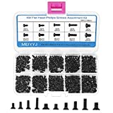 MEIYYJ 500pcs M2 M2.5 M3 Laptop Notebook Computer Replacement Screws Kit, PC Flat Head Phillips Screw Assortments, Countersunk SSD Electronic Repair Accessories for Sony DELL Samsung IBM HP Toshiba