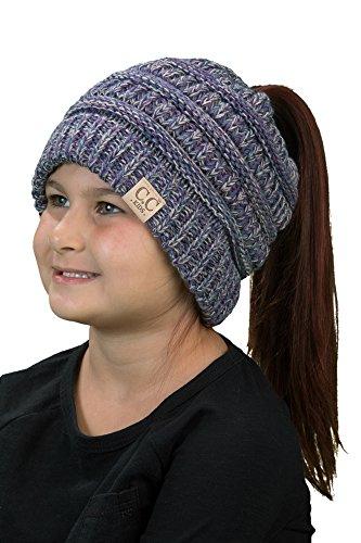 BT2-3847-816.40 Four Color Children's Beanie Tails: Purple #2