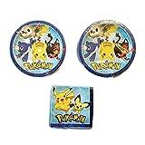 Pokemon Party Bundle 23cm Plates (16) Napkins (16)