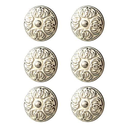 6 Stücke Retro Dresser Drawer Knob Zieht Griffe Küchenschrank Schrank Knöpfe Bad Hardware Weiß Silber Präge Design