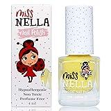 Miss Nella nuova collezione estiva BANANA SPLIT- giallo Smalto speciale con brillantini per bambini, con formula peel-off, a base d'acqua e senza odori