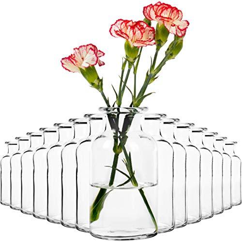 15x Vasen Dekoflasche (13cm) Vase Set Väschen Blumenvase Tischvase Blumenväschen