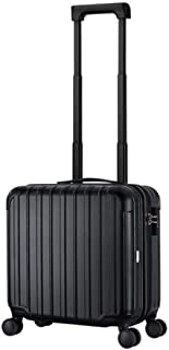 Luggage, PC Material Business Unisex Trolley Case, Black, 16 Inches Travel Equipment (Color : Black)