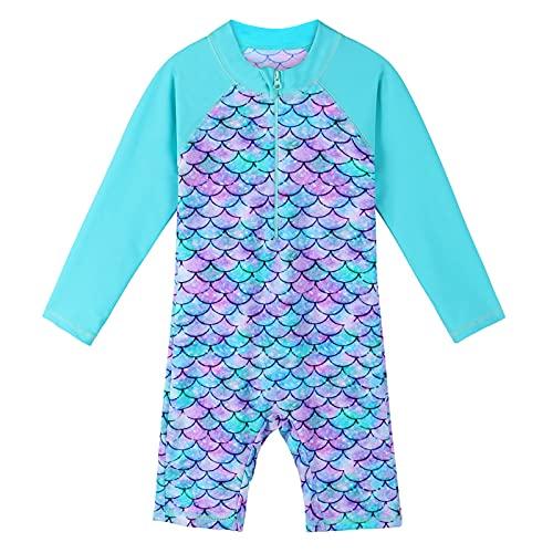 HUAANIUE Girls UPF 50+ UV One Piece Swimwear Kids Bodysuit Beachwear with...
