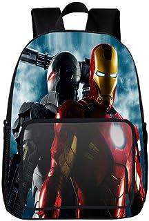 Mochila para Niños Avengers Iron Man Hulk Schoolbag School Cartoon Backpack para NiñOs Y NiñAs Mochilas Escolares 6-15 AñOs E