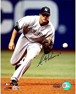 ANDY PHILLIPS SIGNED 8x10 FIELDING PHOTO NEW YORK YANKEES NY METS CINCINNATI RED
