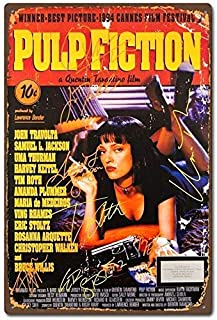 Wall Art Pulp Fiction Poster Film Movie Vintage Retro - Retro Metal Tin Sign Poster Bar Cafe Bedroom Home Decor Inches Aluminum Plate 8×12inch