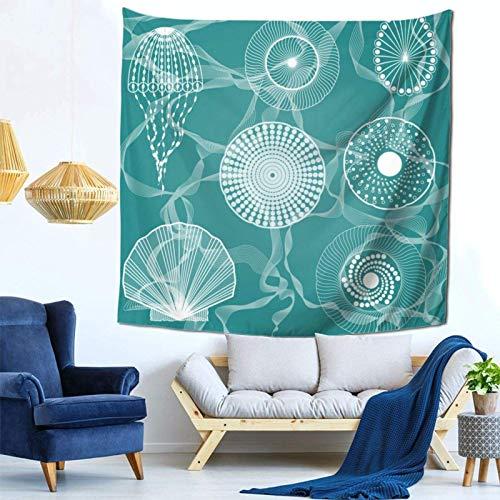 Lsjuee Colorful Life Ocean Creatures Tapestry Wall Hanging Home Decor Fan Art per Camera da letto Soggiorno Dormitorio