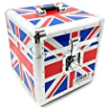 "Total Impact TIP LP100 12"" Vinyl Record Carry Storage Case Box Union Jack Flag"