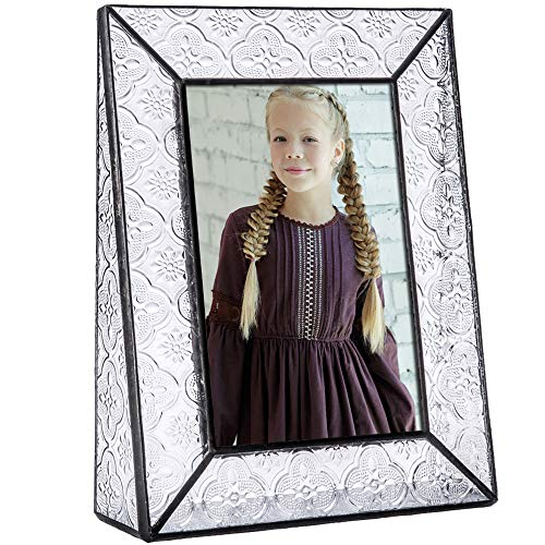 J Devlin Pic 126 Series Clear Vintage Stained Glass Picture Frame Assorted Sizes (4x6 Vertical)