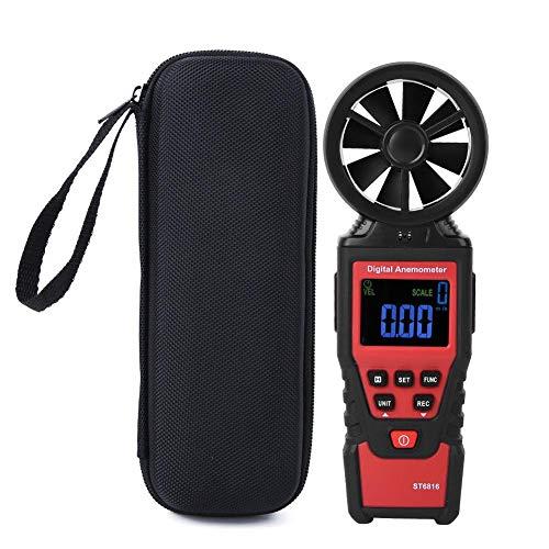 ST6816 LCD Handheld Digital Anemometer Windgeschwindigkeitstemperaturmesser Tester zum Schießen Segeln Windsurfen Angeln Jagen
