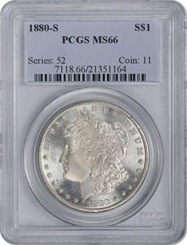 1880-S Morgan Silver Dollar, MS66, PCGS