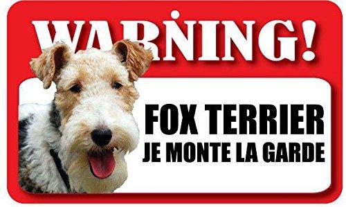 Plaque Je Monte La Garde Fox Terrier