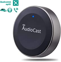 Bluetooth Car Kit, Bluetooth Receiver, Car Bluetooth Adapter Wireless Music Receiver Audio Adapter Hands-Free Call 3.5mm Aux A2DP Aptx HiFi Stereo Output for Home Car System, Spotify, Pandora, Speaker