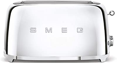 SMEG TSF02SSEU   Broodrooster 4 plakjes 50's Style   Kleur : roestvrij staal