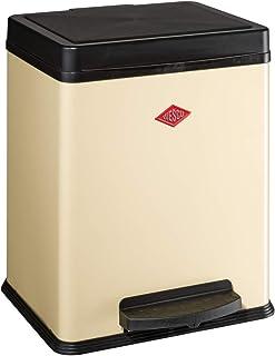 2 Compartimentos de 10 l Color Rojo Wesco 380 411-02 Papelera de Reciclaje