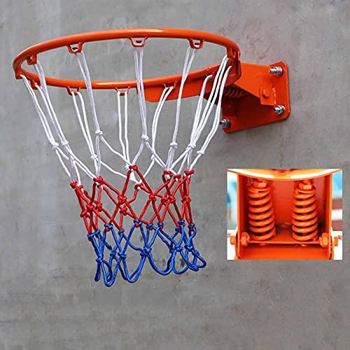Canasta de baloncesto YXX Aro De Baloncesto De Primavera Montado En La Pared 45 Cm De Diámetro, Aro De Baloncesto De Repuesto Portátil Y Porterías para Tablero, Exterior Y Garaje (Color : Orange)
