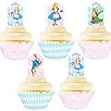 Alice In Wonderland Cupcake Toppers and...