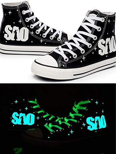 Telacos SAO Sword Art Online Cosplay Shoes Canvas Shoes Sneakers Luminous