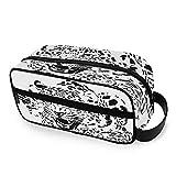 Lying Leopard Toiletry Bag Portable Cosmetic Bags Travel Makeup Bag Pouch Wash Gargle Bag Outdoor Toiletries Bag Organizer Cosmetic Travel Bag for Women Girls Men