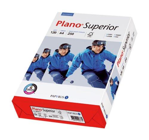 Papyrus 88026786 Drucker-/ Kopierpapier Premium: Planosuperior 120 g/m², A4 250 Blatt, hochweiß /Nachfolger – tecno Superior
