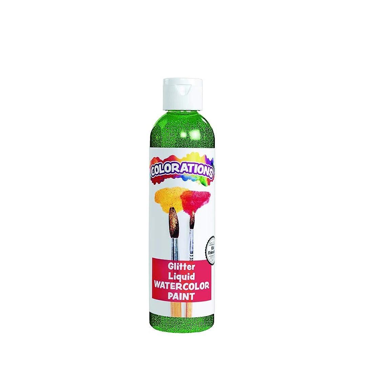 Colorations GLWCGR Glitter Liquid Watercolor, Green, 8 oz.