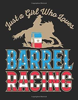 Just a Girl Who Loves Barrel Racing  Barrel Racing Sketch Pad for Kids Blank Paperback Sketchbook for Drawing or Doodling 100 pages