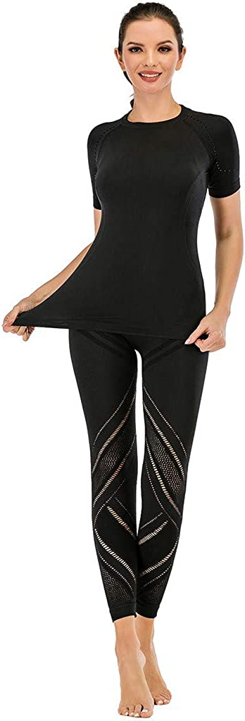 MODOQO Women's Elastic Hollow Out High Waist Leggings Tight Sports Casual Yoga Pants