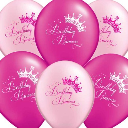 Uninflated 12 Birthday Princess Party Balloons Asstd 8 Pack NJB